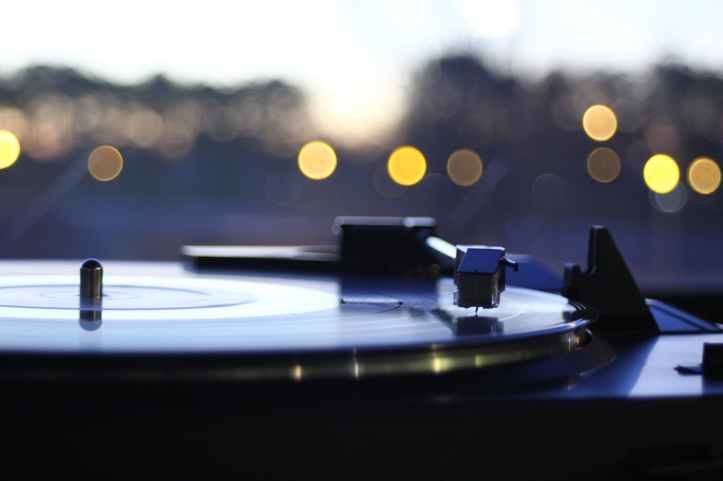 photograph of vinyl record player
