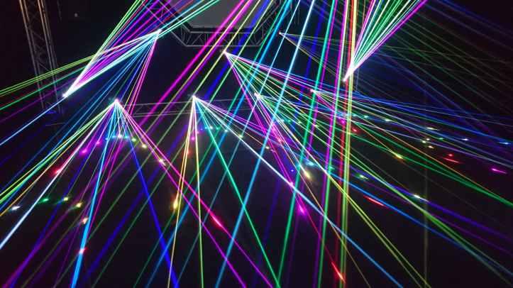 Music laser show